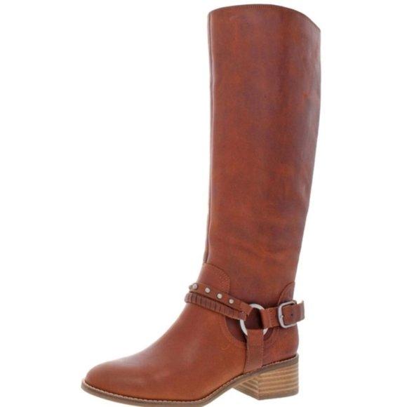Lucky Brand Knee High Boots 9.5 Brown Karesi
